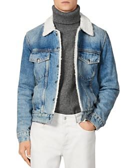 Sandro - Sherpa-Lined Denim Jacket