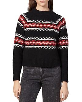 Sandro - Jaquie Geometric Jacquard Sweater