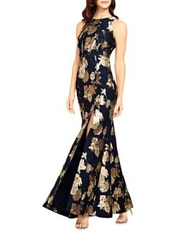 Aidan Mattox - Floral Jacquard Mermaid Gown