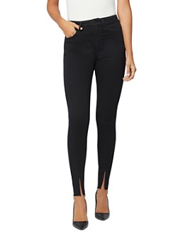 Joe's Jeans - x WeWoreWhat The Danielle High-Rise Skinny Ankle-Zip Jeans in Black