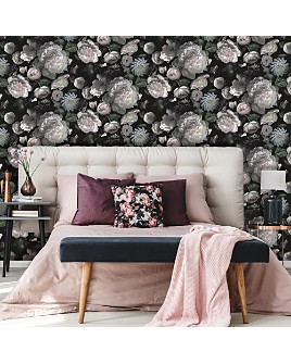 Tempaper - Moody Floral Self-Adhesive, Removable Wallpaper, Double Roll