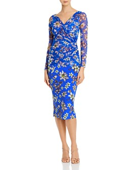 Chiara Boni La Petite Robe - Shana Floral Illusion Print Midi Dress - 100% Exclusive