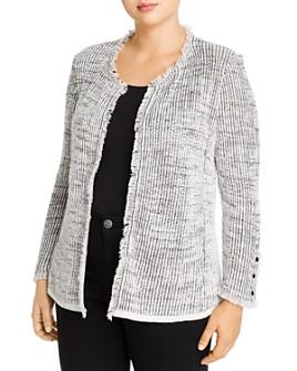 NIC and ZOE Plus - Fringe-Trimmed Sweater Jacket
