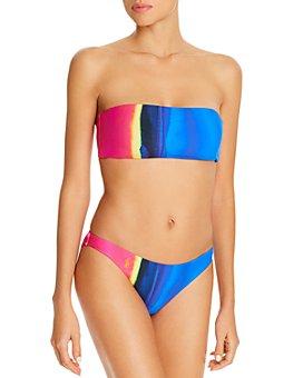 Polo Ralph Lauren - Dip-Dye Bandeau Bikini Top & Dip-Dye Hipster Bikini Bottom