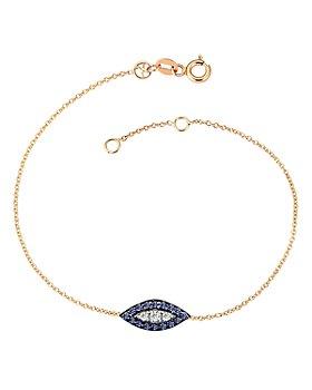 Kismet By Milka - 14K Rose Gold Diamond & Blue Sapphire 10th Eye Haven Bracelet