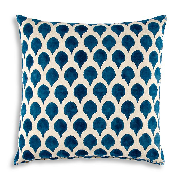 "John Robshaw - Nadole Peacock Decorative Pillow, 20"" x 20"""