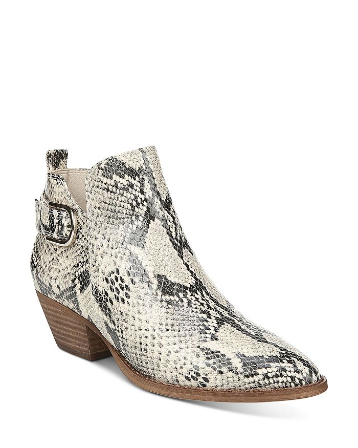 Sam Edelman - Women's Neena Snake-Print Booties