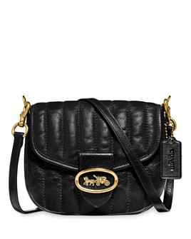 COACH - 1941 Kat 20 Quilted Leather Saddle Bag