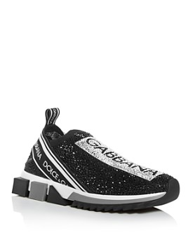 Dolce & Gabbana - Women's Sorrento Crystal Slip-On Sneakers