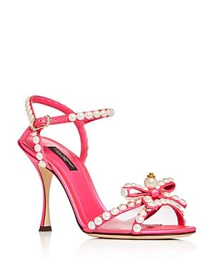Dolce & Gabbana Women\\\'s Pearl Bow High-Heel Sandals