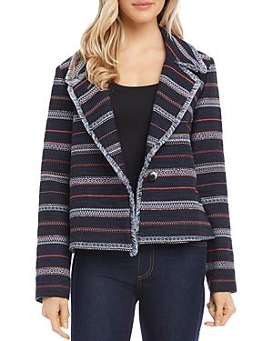 Karen KaneFringed Striped Knit Jacket