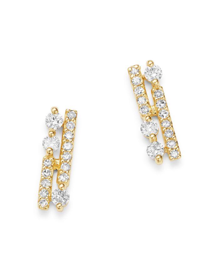 Bloomingdale's Diamond Bar Stud Earrings in 14K Yellow Gold, 0.1 ct. t.w. - 100% Exclusive    Bloomingdale's