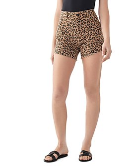 DL1961 - Hepburn Leopard-Print Shorts