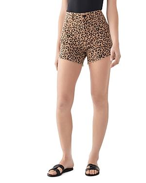 DL1961 Hepburn Leopard Print Shorts-Women