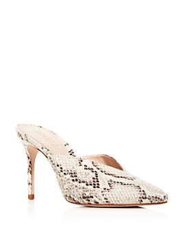 SCHUTZ - Women's Charla Embossed High-Heel Mules