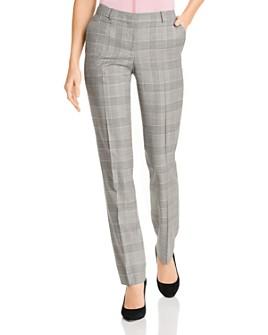 BOSS - Titan Plaid Wool Pants