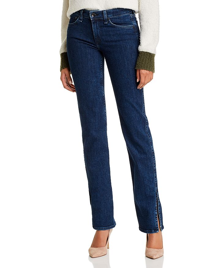 rag & bone - Cate Slit-Hem Flare Jeans in Night Blue
