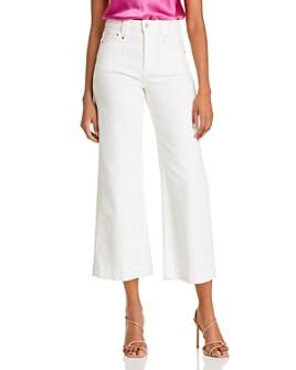 PAIGE - Anessa Cropped Wide-Leg Jeans in Light Ecru