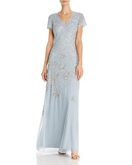 Adrianna Papell - Beaded and Sequin-Embellished Gown