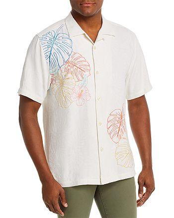 Tommy Bahama - Sketched Tropics Silk Regular Fit Short-Sleeve Shirt