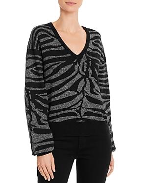 7 For All Mankind Sparkling Zebra Sweater