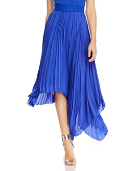 Alice and Olivia - Koryn Asymmetric Pleated Midi Skirt