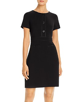 KARL LAGERFELD PARIS - Button-Front Sheath Dress