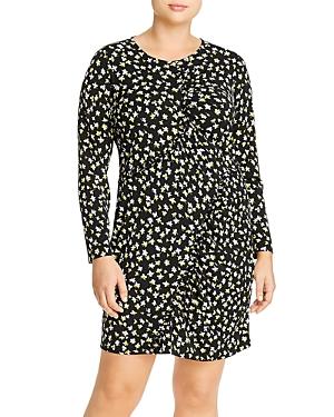 Michael Michael Kors Plus Lilies Ruffle-Trim Dress