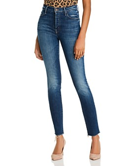 MOTHER - The Stunner Fray Skinny Jeans in Roasting Nuts