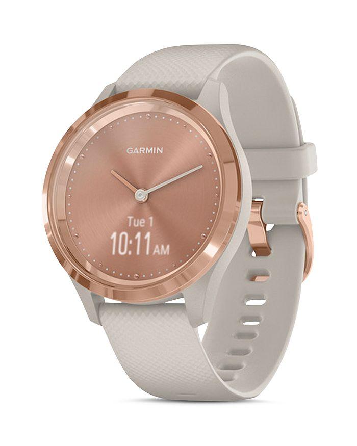 Garmin - Vivomove 3S Rose Gold-Tone Dial Smartwatch, 39mm