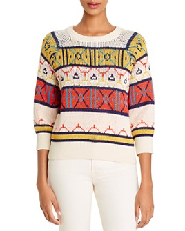 MOTHER - Geometric-Pattern Sweater