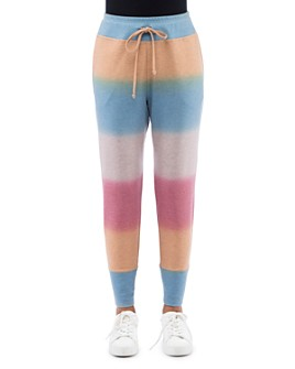 B Collection by Bobeau - Color-Blocked French Terry Jogger Pants