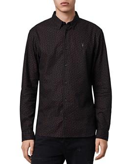ALLSAINTS - Solar Slim Fit Button-Down Flannel Shirt