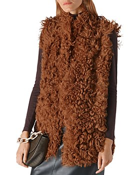 Whistles - Curly Shearling Longline Vest