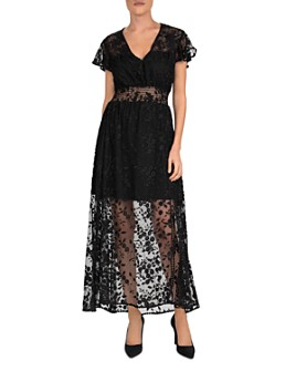 The Kooples - Floral Tulle Maxi Dress