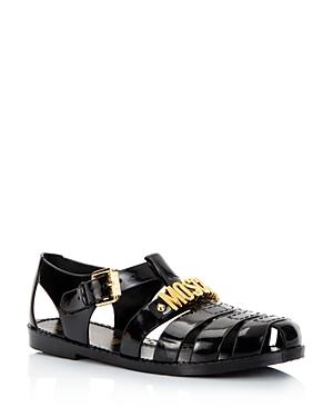 Moschino Women\\\'s Jelly Logo Sandals