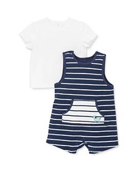 Little Me - Boys' Crewneck Tee & Striped Shortall Set - Baby