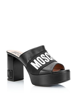 Moschino - Women's Logo Platform Sandals
