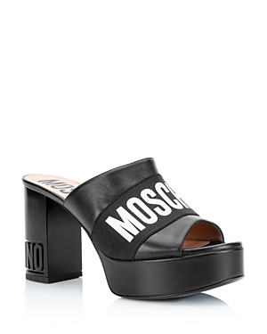 Moschino Women\\\'s Logo Platform Sandals
