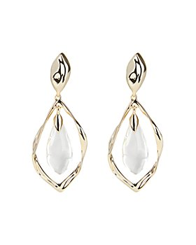 Alexis Bittar - Crumpled Metal Framed Lucite-Detail Clip-On Earrings