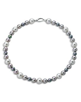 """Majorica - Simulated Pearl Necklace in Sterling Silver, 18"""""""