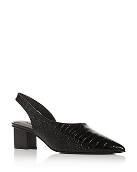 Freda Salvador - Women's Marigold Embossed Pointed-Toe Slingback Pumps