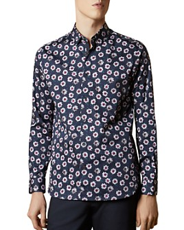 Ted Baker - WEWILL Floral Print Slim Fit Button-Down Shirt