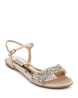 Badgley Mischka - Women's Carmella Crystal-Embellished Sandals