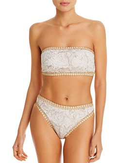 Platinum inspired by Solange Ferrarini - Cobra Bandeau Bikini Top & High-Waist Bikini Bottom - 100% Exclusive