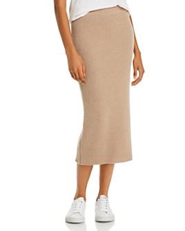 Anine Bing - Reese Cashmere & Wool Midi Skirt