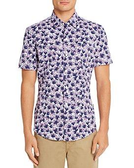 BOSS - Robb Performance Stretch Slim Fit Short-Sleeve Shirt