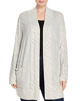 B Collection by Bobeau Curvy - Jerry Zebra Open-Front Cardigan
