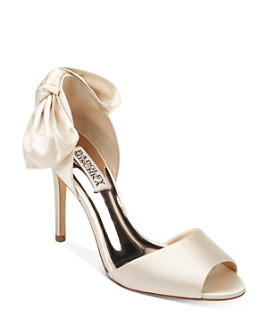 Badgley Mischka - Women's Eugenie Peep-Toe d'Orsay Pumps