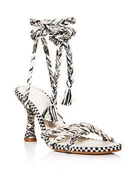 ANTOLINA - Women's Eunice Woven Ankle-Tie High-Heel Sandals